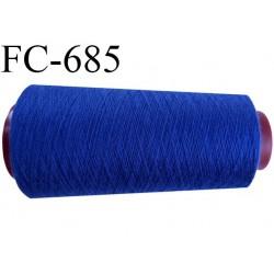 CONE de 2000 m fil polyester fil n° 100 couleur bleu longueur de 2000 mètres bobiné en France