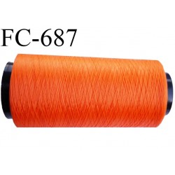 Cone 5000 m fil mousse polyamide n°100 2 couleur orange lumineux bobiné en France