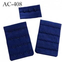 AC-408 Agrafe attache 50 mm rallonge extension de soutien gorge 4 rangés 4 crochets largeur 50 mm hauteur 73 mm couleur marine