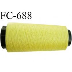 CONE de 2000 m fil polyester fil n° 120 couleur jaune longueur de 2000 mètres bobiné en France
