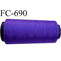 CONE fil mousse polyamide n° 100/2 couleur violet  longueur de 1000 mètres bobiné en France