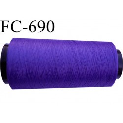 CONE 2000m fil mousse polyamide n° 100/2 couleur violet  longueur de 2000 mètres bobiné en France
