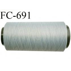 CONE 1000 m fil mousse polyamide n° 100/2 couleur gris argenté longueur de 1000 mètres bobiné en France