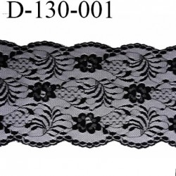 Dentelle 130 mm synthétique noir largeur 130 mm vendu au mètre