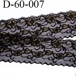 dentelle largeur 60 mm couleur noir synthétique motif fleurs