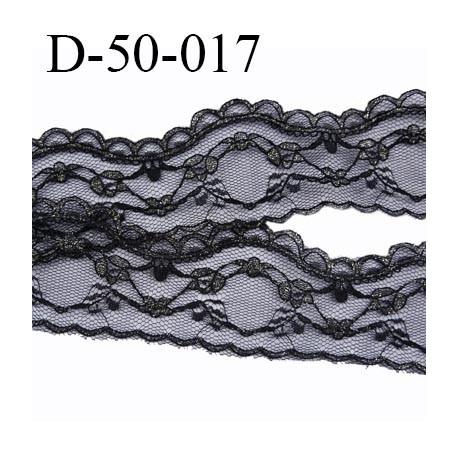 Dentelle 50 mm synthétique  largeur 50 mm couleur noir et or prix au mètre