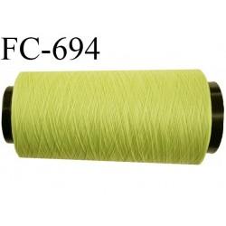 CONE de 2000 m fil polyester n° 100 couleur primevère longueur de 2000 mètres bobiné en France