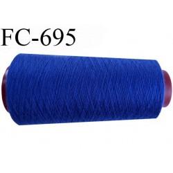 Cone 2000 m fil mousse polyamide n°120 couleur bleu  bobiné en France
