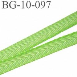 biais sergé coton polyestere galon ruban couleur vert anis largeur 10 mm vendu au mètre
