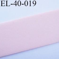 Elastique 40 mm plat très très  belle qualité couleur rose pétale  forte élasticité largeur 40 mm prix au mètre