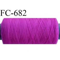 BOBINE FIL mousse polyamide n°120 surfilor cone moyen couleur PIVOINE -