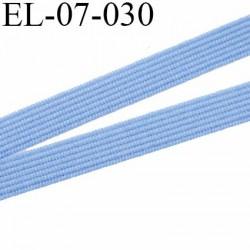 élastique  7 mm  lingerie couleur bleu largeur 7 mm prix au mètre