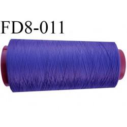 Cone 1000 m destockage fil mousse polyamide n° 120 violet tirant sur le bleu longueur du cone 1000 mètres bobiné en France