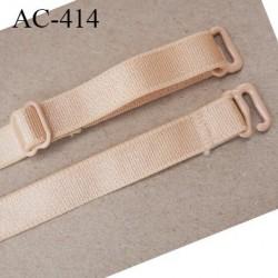bretelle 10 mm lingerie SG chair brillant largueur 10 mm longueur 35 cm 1 barrettes 2 crochets métal plastifié prix à la pièce