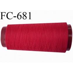CONE de 2000 m fil polyester fil n° 120 couleur framboise longueur de 2000 mètres bobiné en France