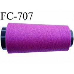 Cone de 5000 m fil polyester n° 120 couleur pivoine longueur de 5000 mètres bobiné en France