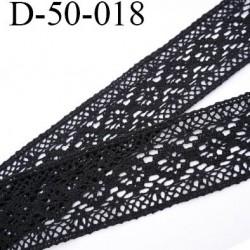 Dentelle crochet 50 mm ancienne 100% coton couleur noir anthracite provient d'une vieille mercerie parisienne prix au mètre