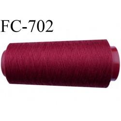 CONE 5000 m fil polyester fil n° 50 couleur bordeaux rouge  longueur de 5000 mètres bobiné en France