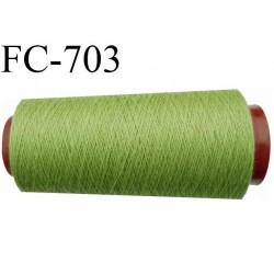 CONE 5000 m fil polyester fil n° 50 couleur vert tirant sur l'anis  longueur de 5000 mètres bobiné en France