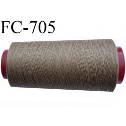 CONE 5000 m fil polyester fil n° 50 couleur taupe marron clair longueur de 5000 mètres bobiné en France