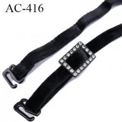 AC-416 bretelle 08 mm lingerie SG couleur noir en velour  longueur 35 cm prix à la pièce