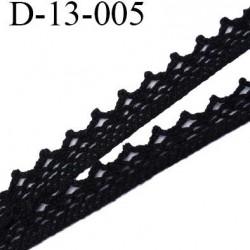 Dentelle 13 mm coton noir