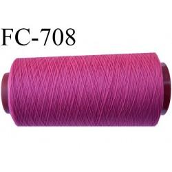 Cone 1000 mètres de fil mousse polyamide fil n°120 couleur fushia bobiné en France