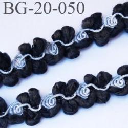 Bias galon 30 mm synthétique couleur noir avec spirale brillante couleur argenté prix au mètre