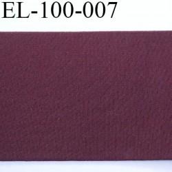 Elastique plat 114 mm très belle qualité couleur bordeaux lie de vin largeur 114 mm prix au mètre