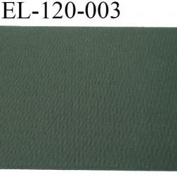 Elastique plat 12.3 cm très belle qualité couleur vert foncé largeur 12.3 cm semi rigide prix au mètre