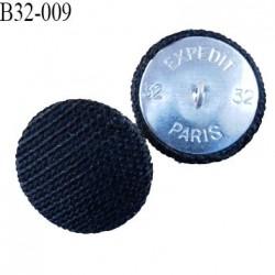 bouton métal tissu 32 mm couleur bleu marine superbe accroche avec un anneau diamètre 32 mm