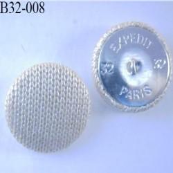 bouton métal tissu 32 mm couleur beige superbe accroche avec un anneau diamètre 32 mm