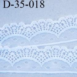 dentelle synthétique largeur 35 mm couleur blanc prix au mètre