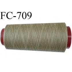 Cone de 1000 m fil polyester n° 120 couleur kaki beige longueur de 1000 mètres bobiné en France