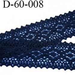 Dentelle crochet 60 mm ancienne 100% coton couleur noir provient d'une vieille mercerie parisienne prix au mètre