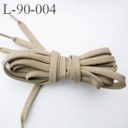 Lacet plat ovalisé 91 cm couleur beige kaki longueur 91 cm largeur 60 mm