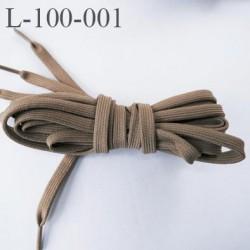 Lacet plat ovalisé 100 cm couleur taupe longueur 100 cm largeur 70 mm prix pour une paire