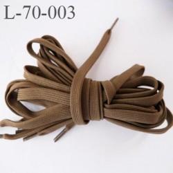 Lacet plat ovalisé 70 cm couleur noisette longueur 70 cm largeur 70 mm prix pour une paire