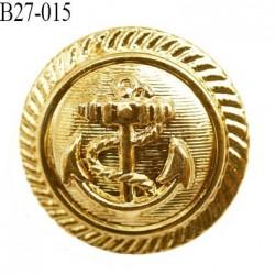 bouton 27 mm couleur or doré brillant en pvc très joli ancre marine la couleur  est celle d'une pièce d'or diamètre 27 mm