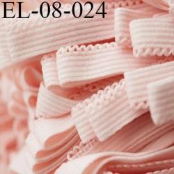 Elastique 8 mm picot lingerie couleur rose pétale largeur 8 mm avec picot largeur 2 mm prix au mètre