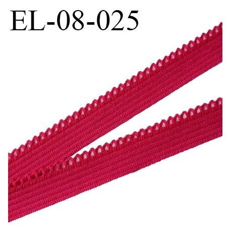 Elastique 08 mm picot lingerie couleur groseille largeur picot 1 mm prix au mètre