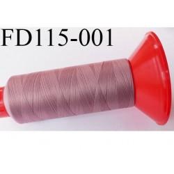 Cone 2500 m fil mousse polyamide n°120 couleur vieux rose longueur 2500 mètres  bobiné en France