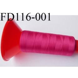 Cone 2500 m fil mousse polyamide n°120 couleur fushia longueur 2500 mètres  bobiné en France