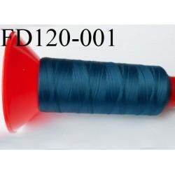 Cone 2500 m fil mousse polyamide n°120 couleur bleu  longueur 2500 mètres  bobiné en France