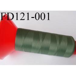 Cone 2500 m fil mousse polyamide n°120 couleur vert kaki  longueur 2500 mètres  bobiné en France