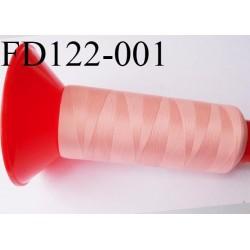 Cone 2500 m fil mousse polyamide n°120 couleur rose saumoné longueur 2500 mètres  bobiné en France
