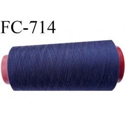 Cone de 5000 m fil polyester n° 120 couleur bleu marine longueur de 5000 mètres bobiné en France
