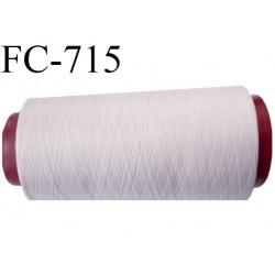 Cone 1000 m fil mousse polyester n° 160 couleur rose pâle longueur 1000 mètres bobiné en France