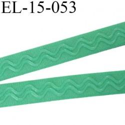 Elastique 15 mm anti-glisse lingerie forte élasticité couleur lagune vert haut de gamme largeur 15 mm prix au mètre