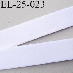 Elastique 24 mm bretelle lingerie doux et forte élasticité couleur blanc brillant haut de gamme largeur 24 mm prix au mètre
